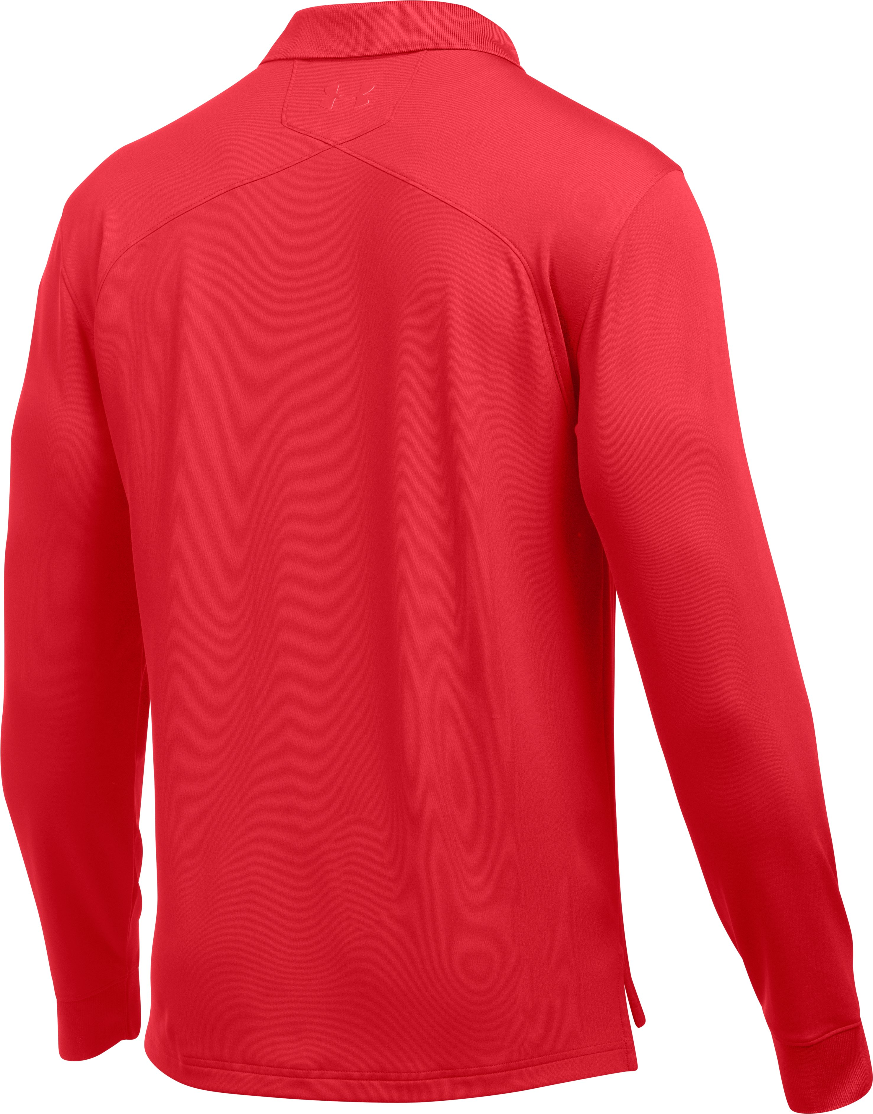Men's UA Tactical Performance Long Sleeve Polo, Red,