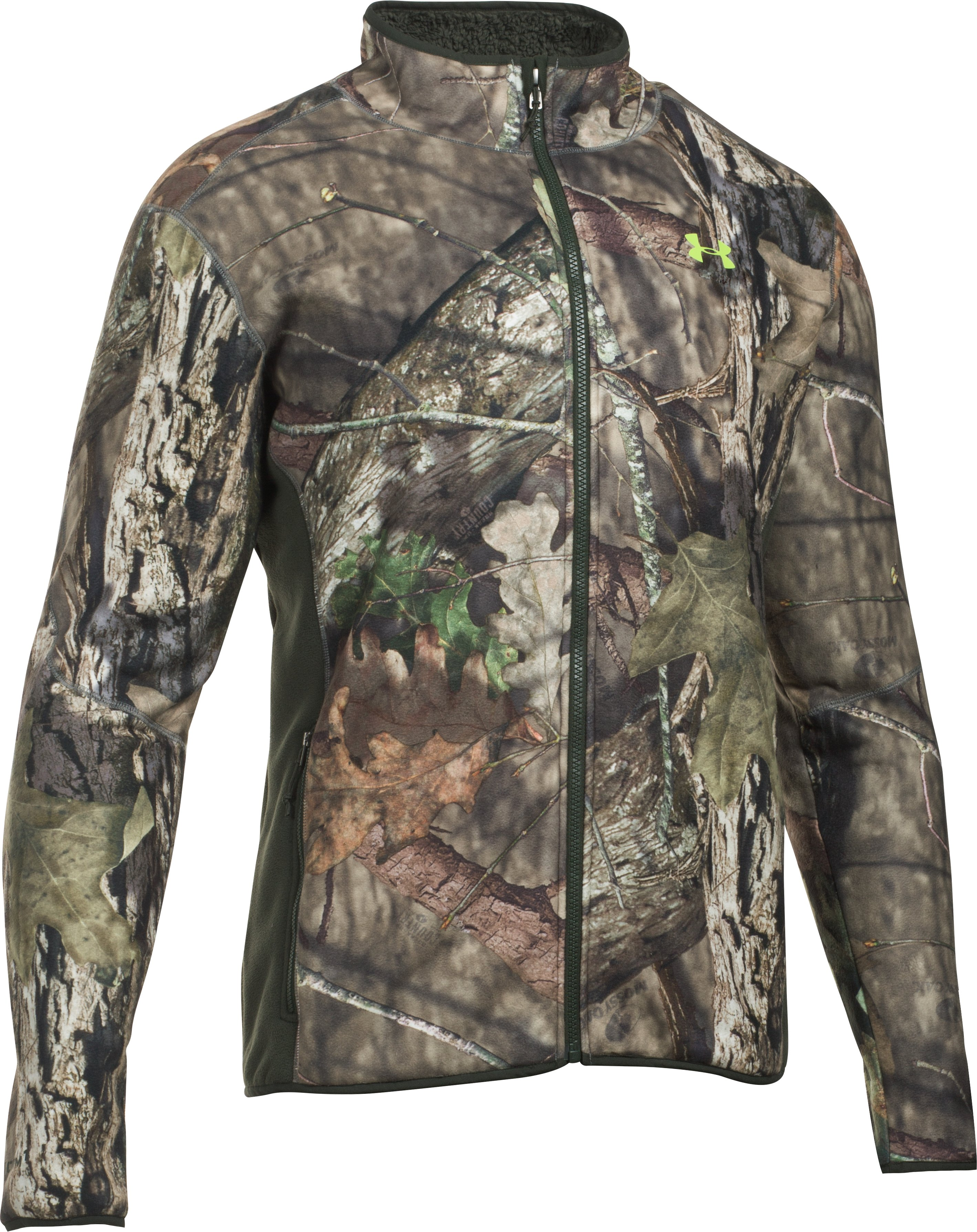Men's UA Stealth Fleece Jacket, MOSSY OAK OPEN COUNTRY