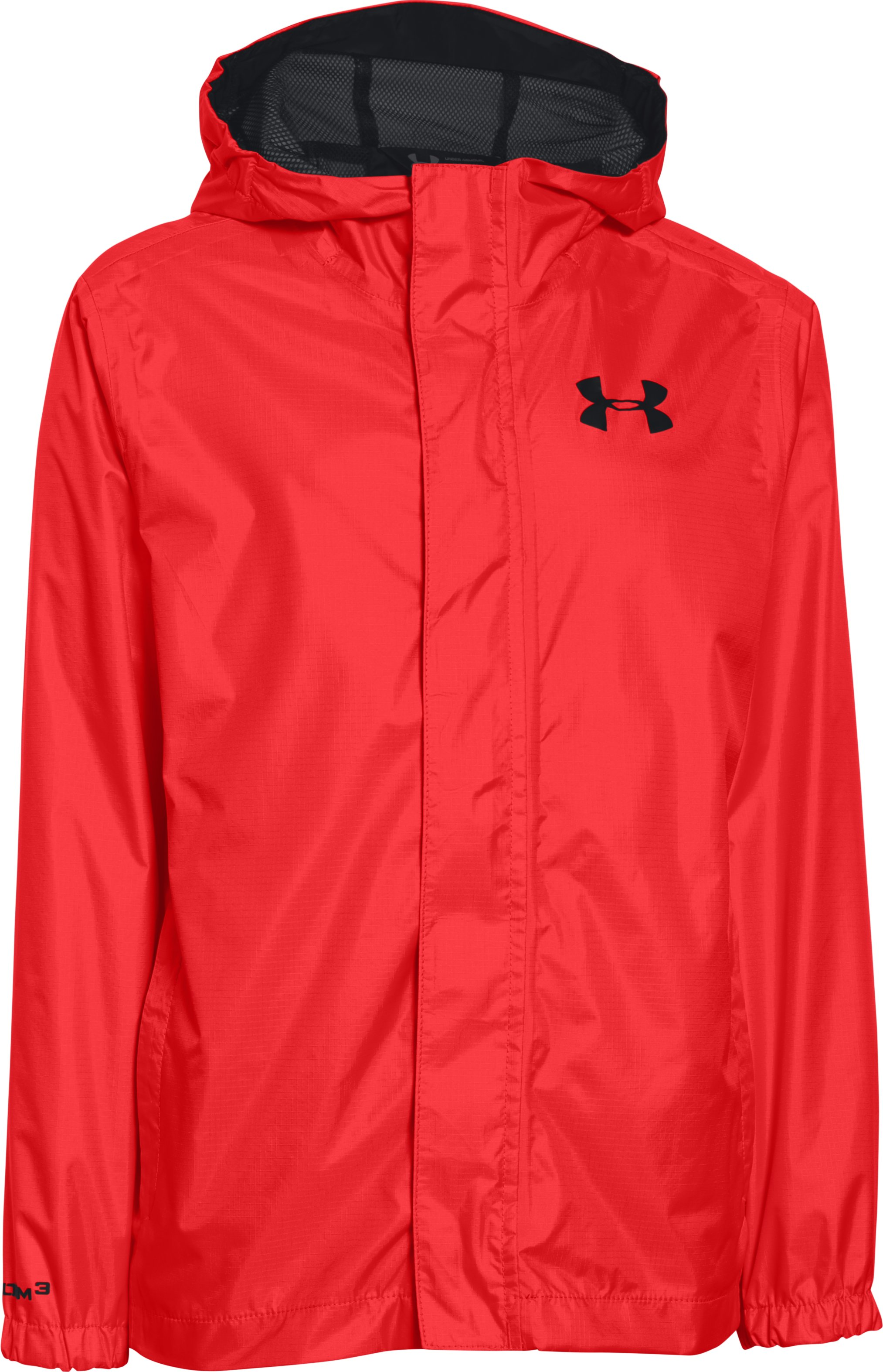 Boys' UA Clean Up Piped Baseball Jacket, ROCKET RED, undefined