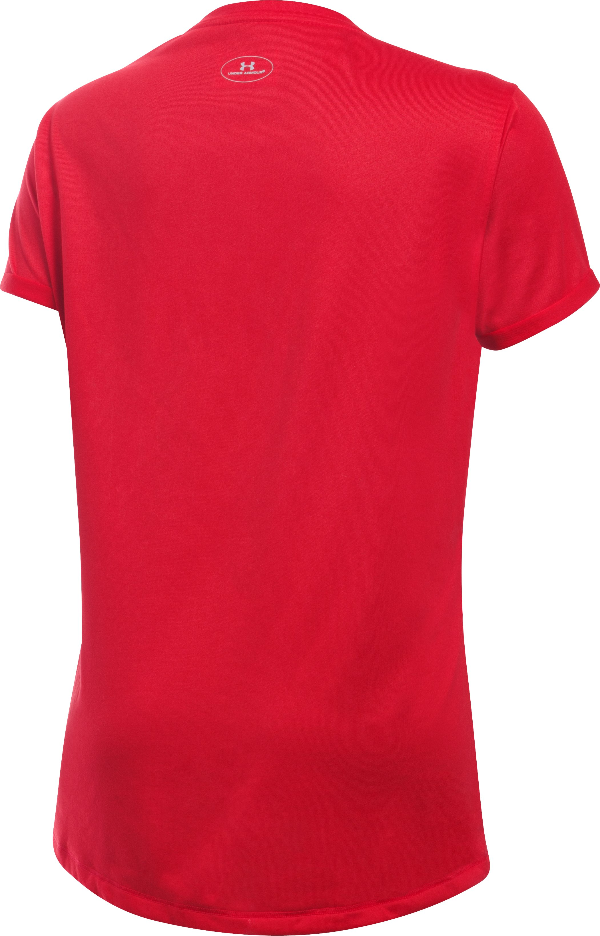 Girls' Maryland UA Shimmer Tech™ T-Shirt, Red,