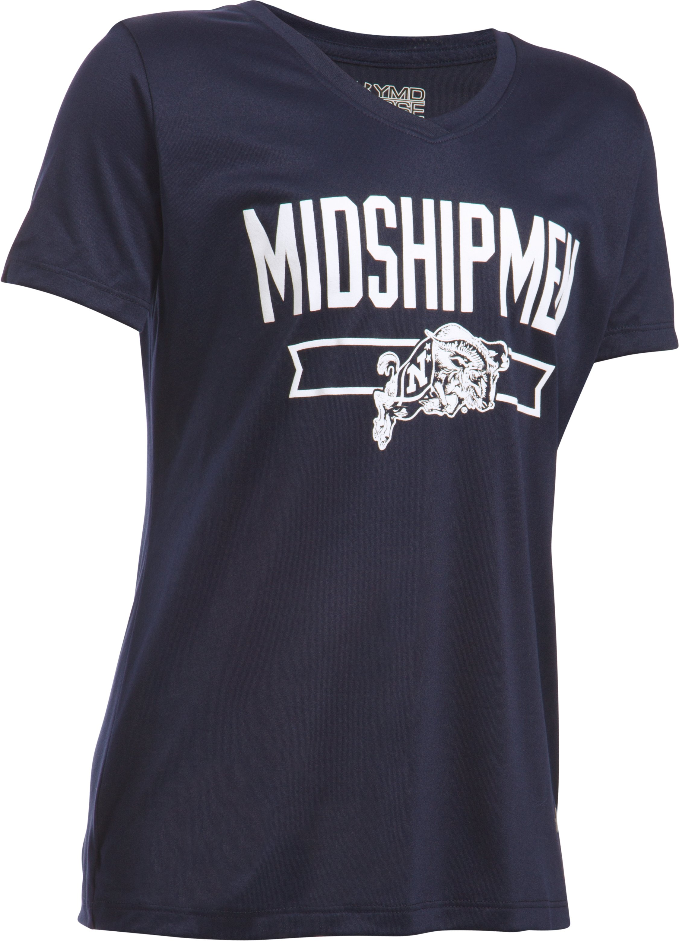 Girls' Navy UA Tech™ Shimmer T-Shirt, Midnight Navy,