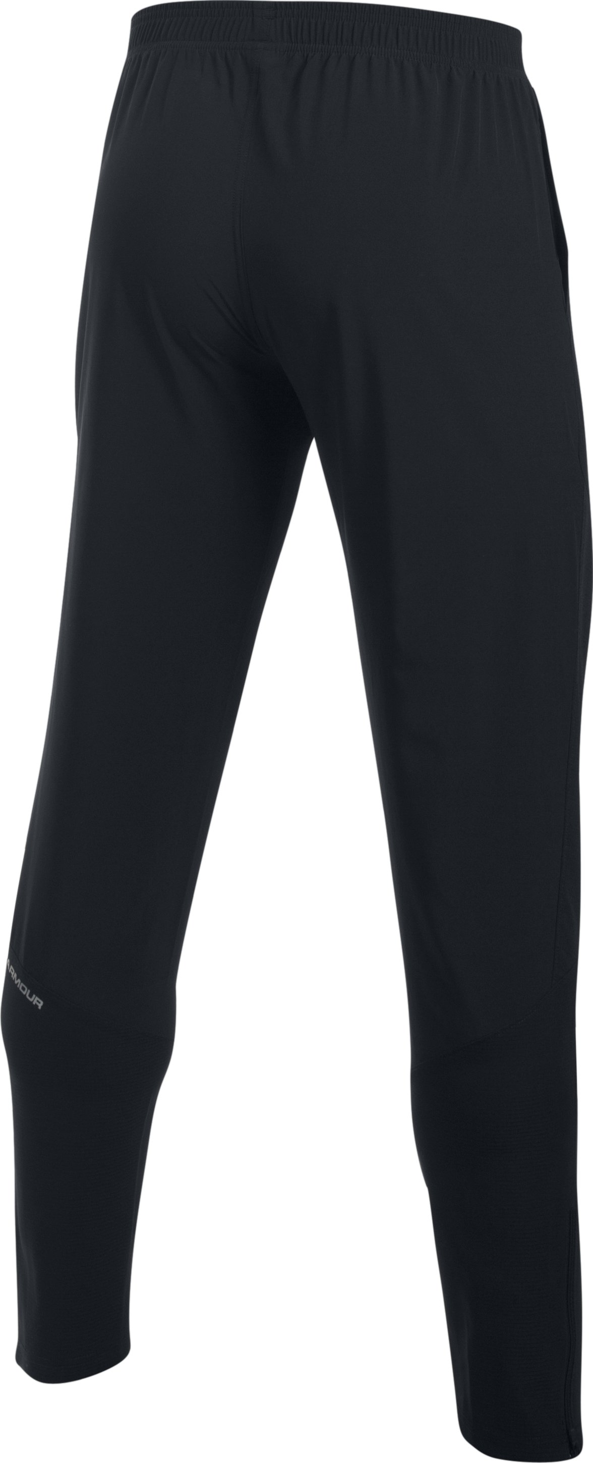 Men's UA No Breaks Stretch-Woven Run Pants, Black , undefined
