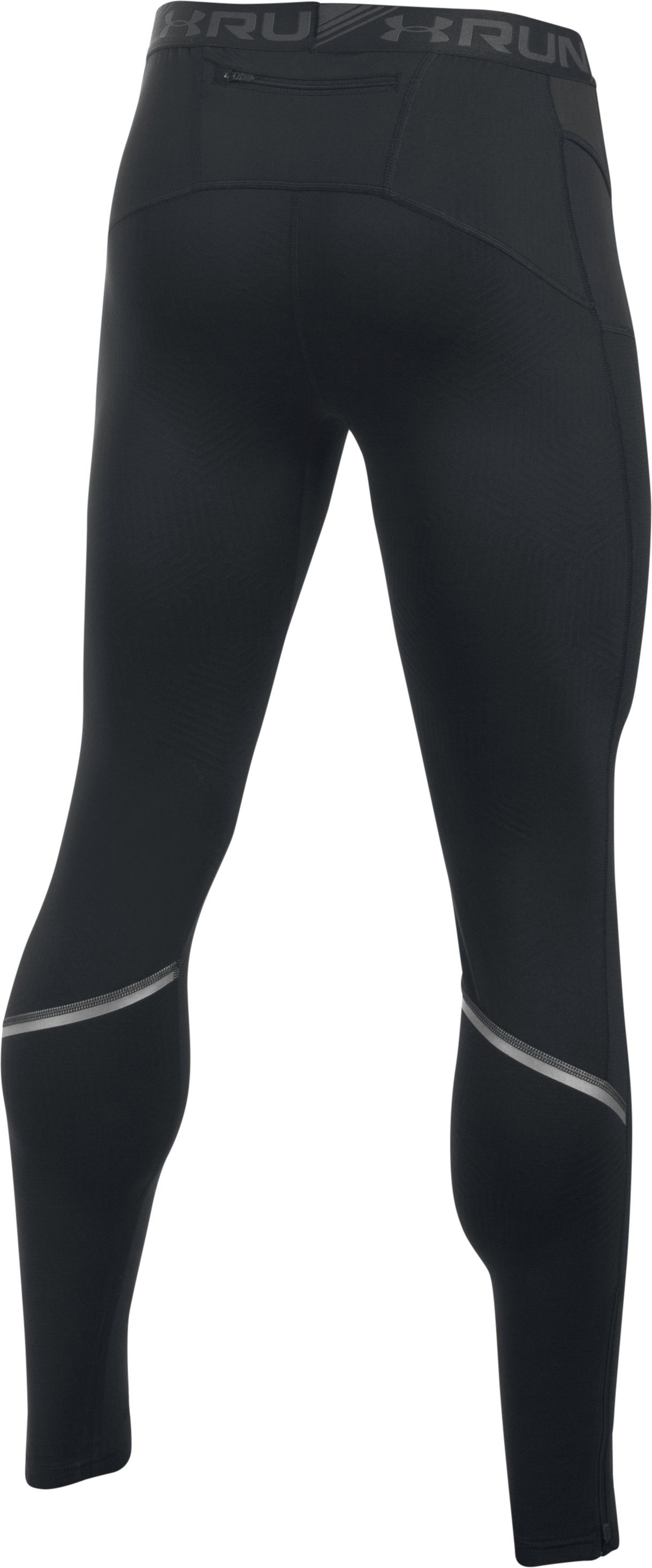 Men's UA No Breaks ColdGear® Infrared Run Leggings, Black , undefined