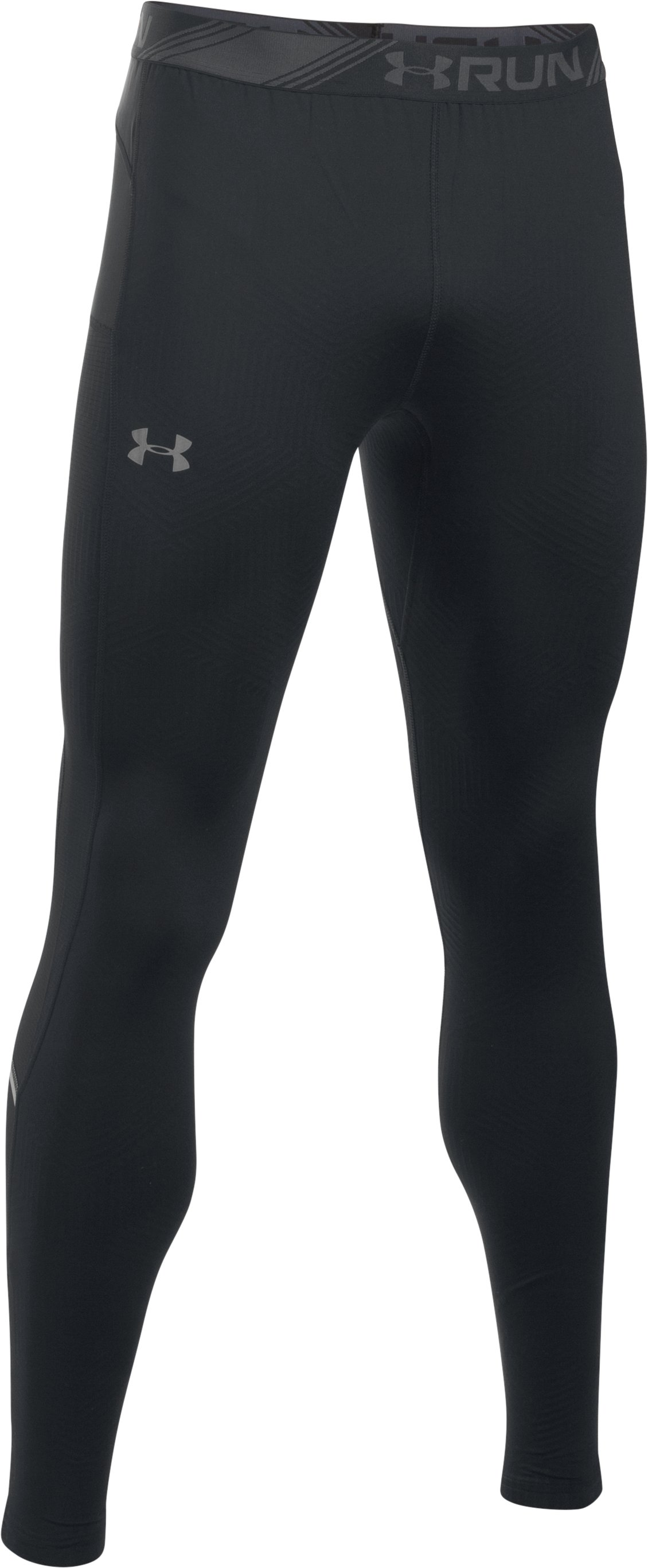 Men's UA No Breaks ColdGear® Infrared Run Leggings, Black ,
