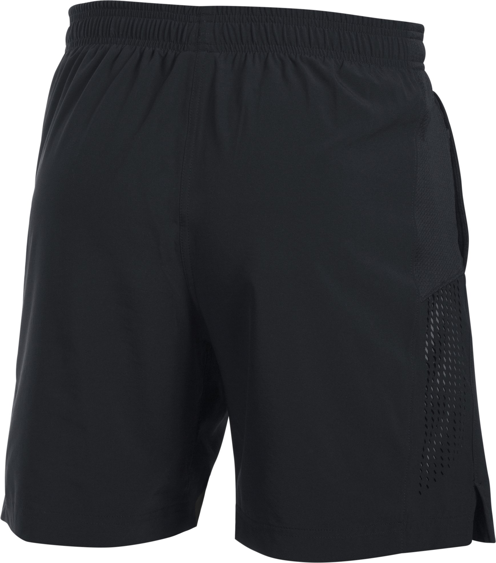 "Men's UA Performance Run 7"" Linerless Shorts, Black ,"