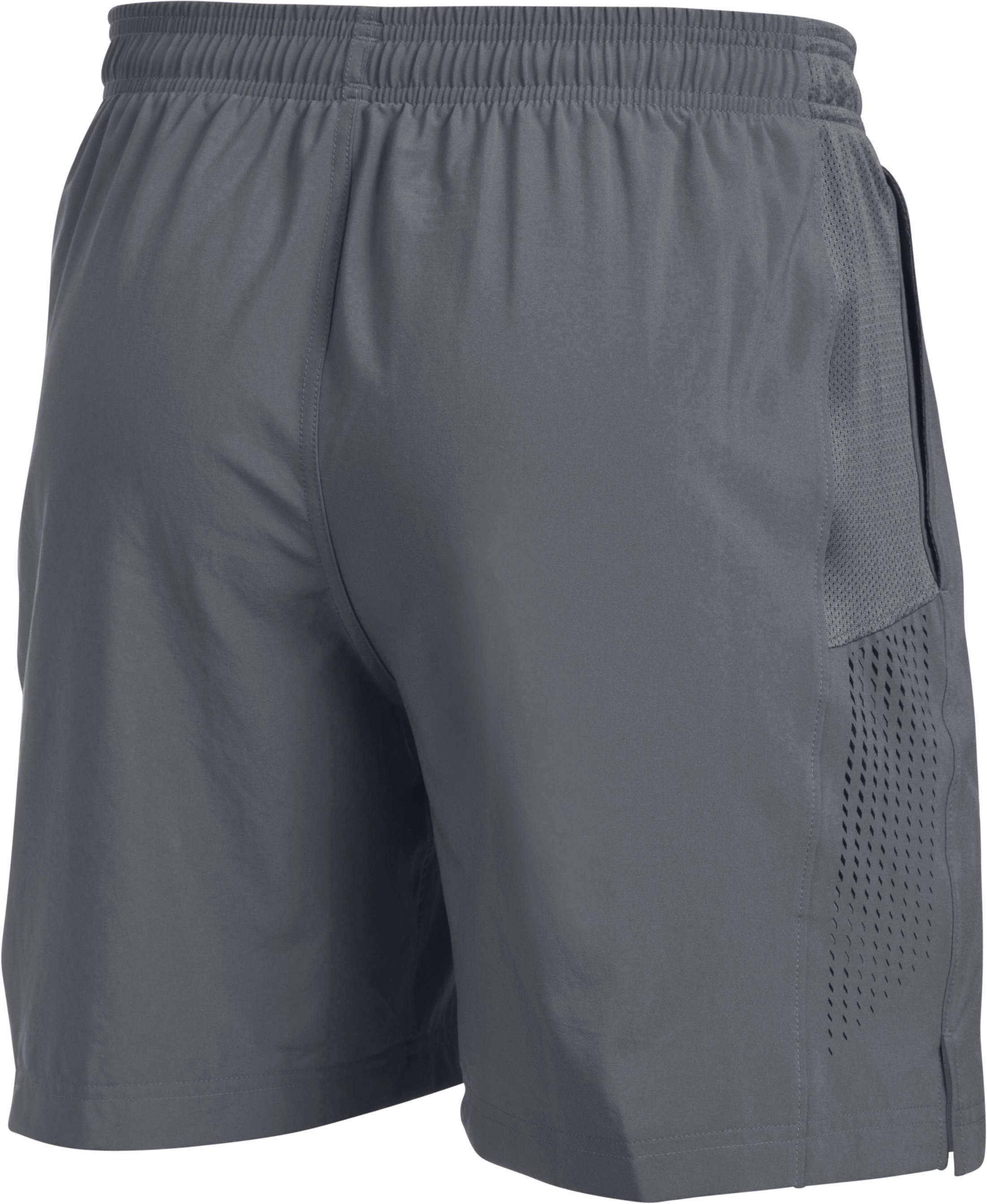"Men's UA Performance Run 7"" Linerless Shorts, Graphite,"