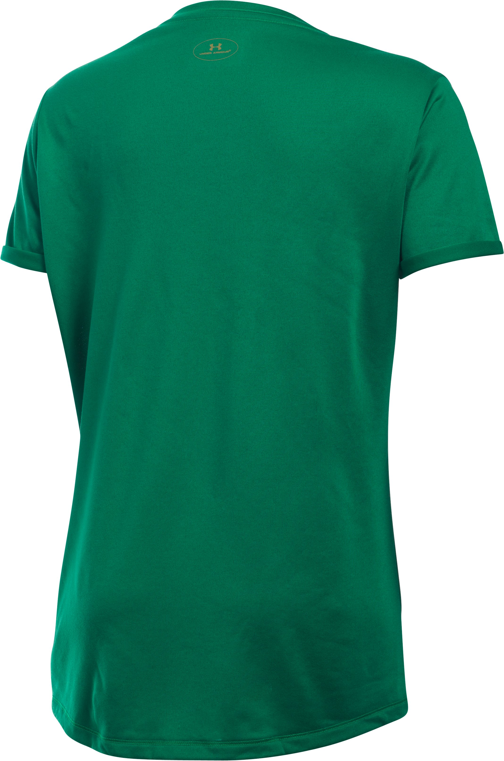 Girls' Notre Dame UA Tech™ T-Shirt, Team Kelly Green