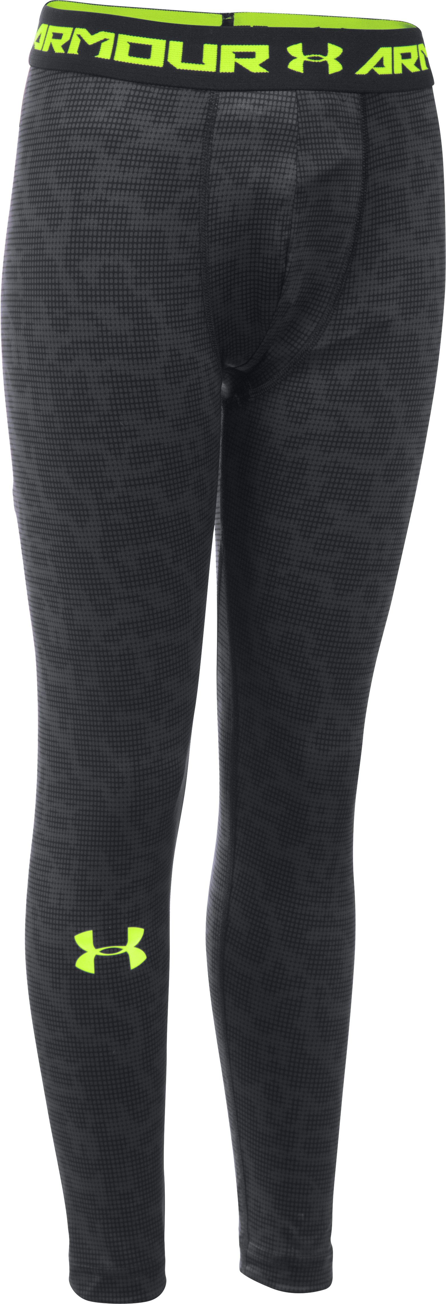 Boys' UA Inline Football Leggings, Black ,