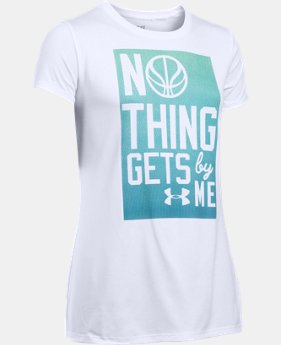 Girl's UA Nothing Gets By Me Short Sleeve   $22.99