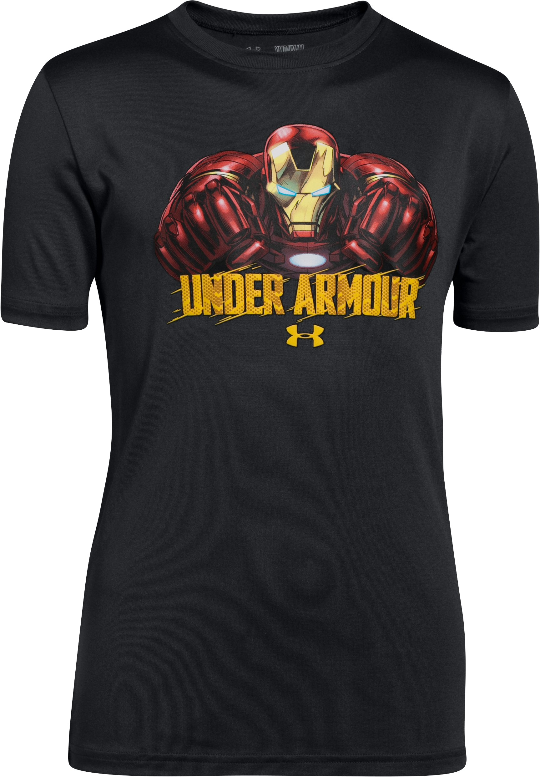 Boys' Under Armour® Alter Ego Iron Man T-Shirt, Black