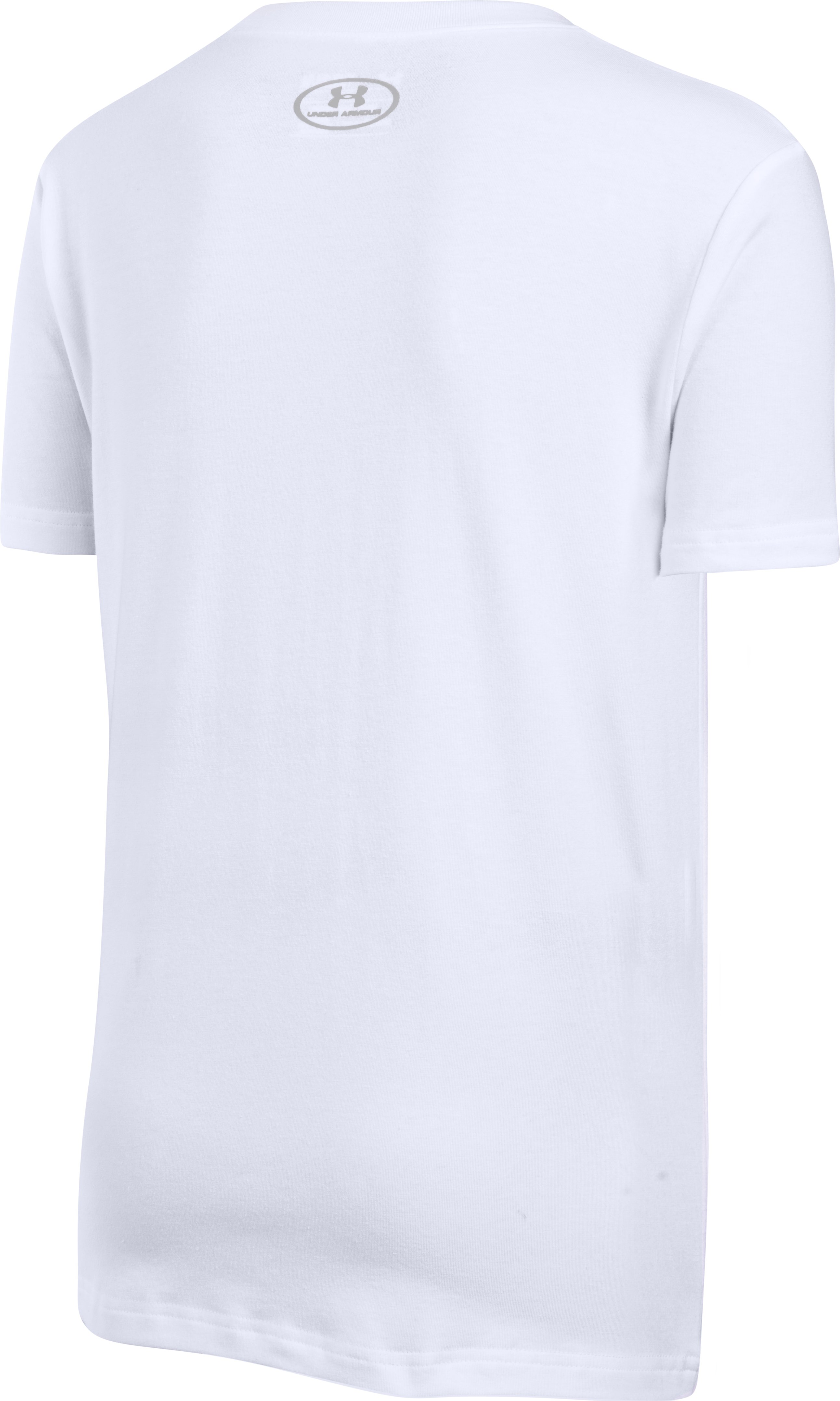 Boys' UA Challenger Ball T-Shirt, White, undefined