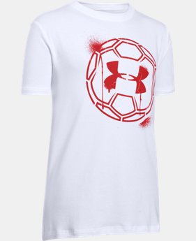 New Arrival Boys' UA Challenger Ball T-Shirt   $25