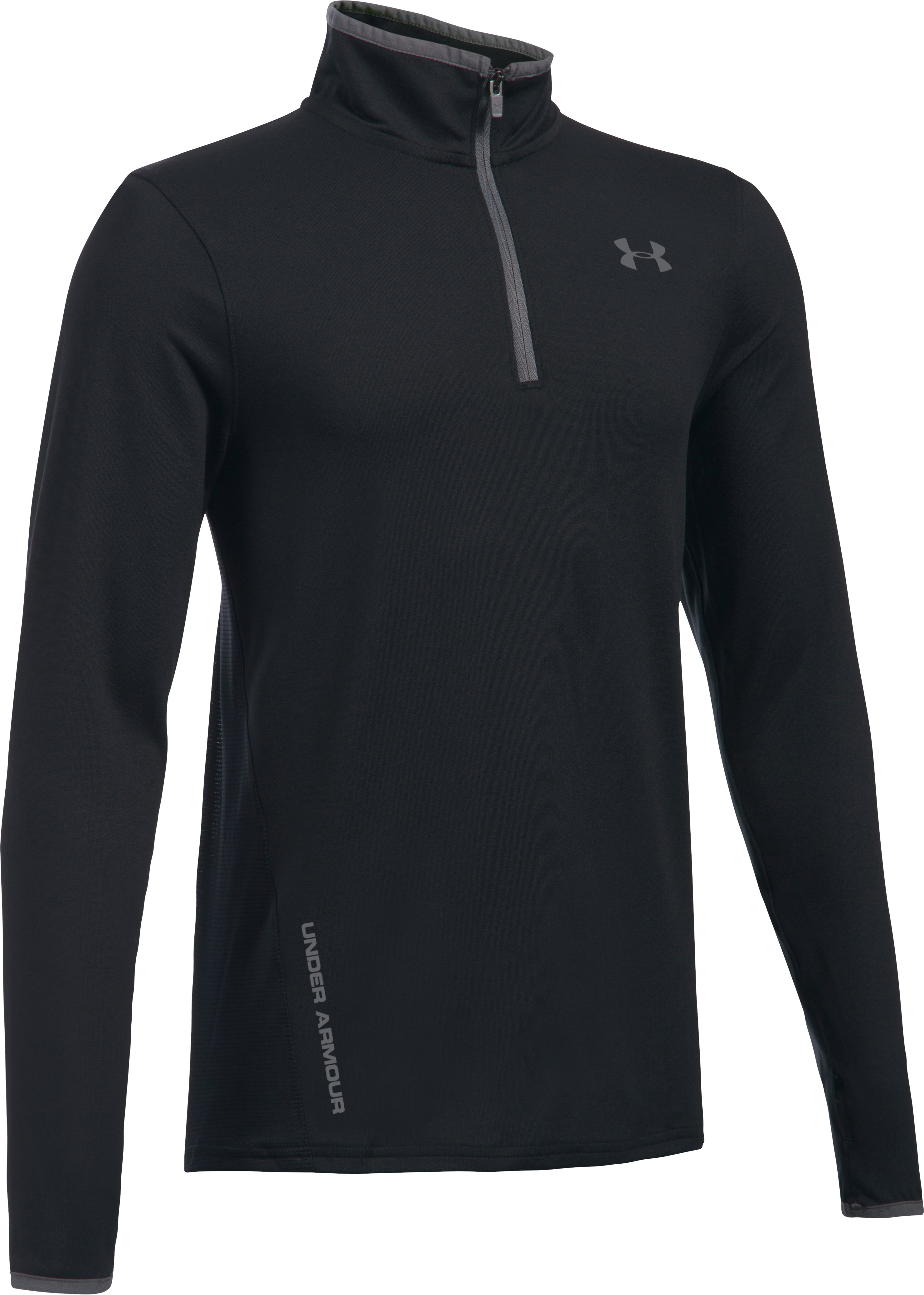 Boys' UA Challenger ¼ Zip, Black ,
