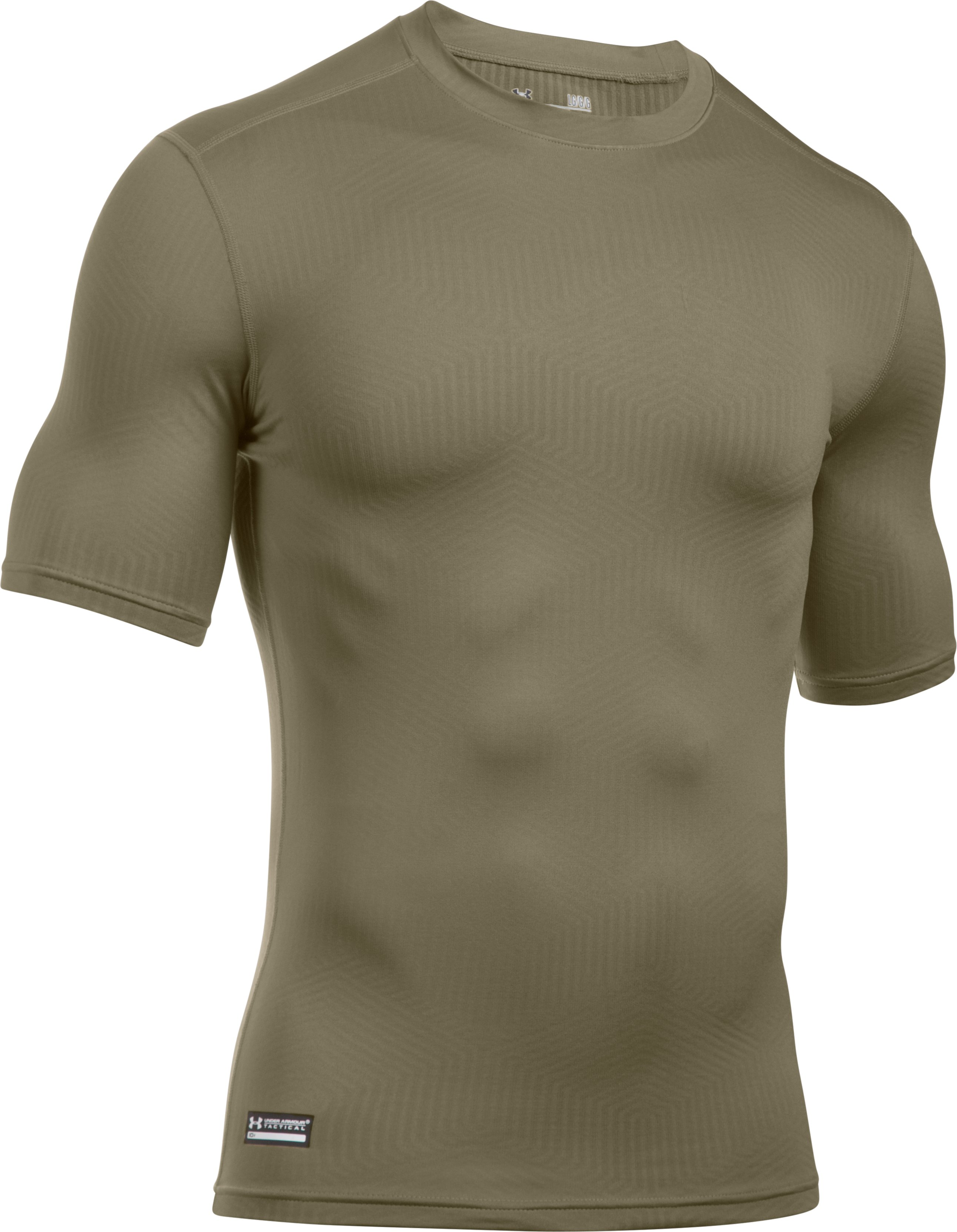Men's ColdGear® Infrared Tactical Short Sleeve, FEDERAL TAN, undefined