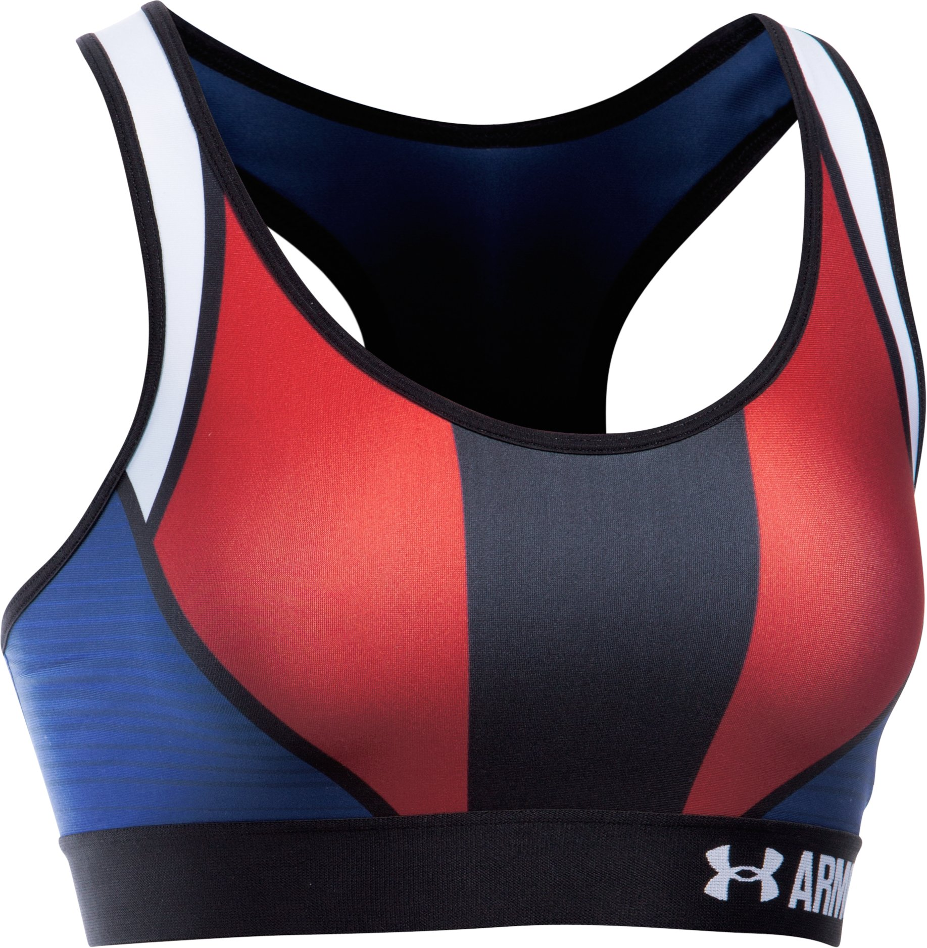 Women's UA Armour® Mid American Pride Sports Bra, AMERICAN BLUE, undefined
