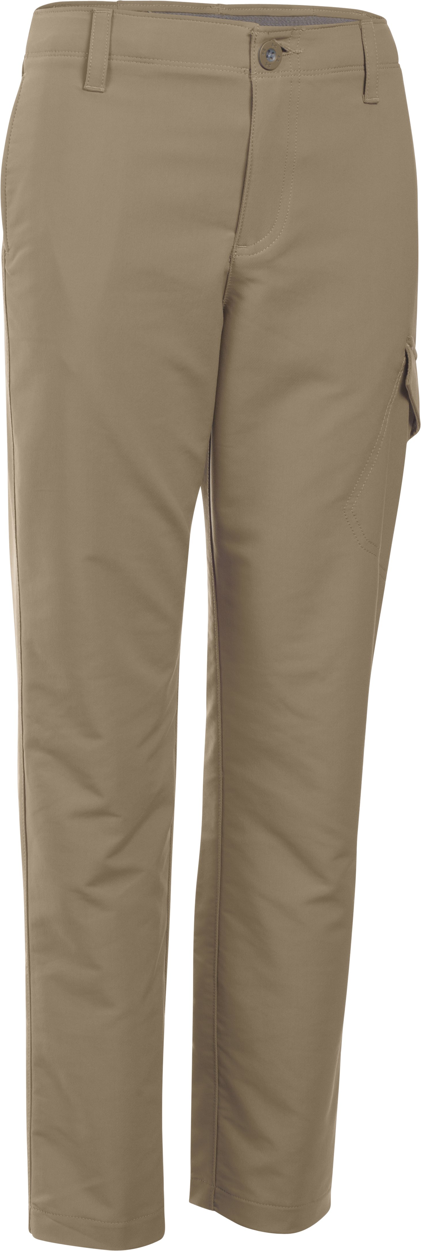 Boys' UA Match Play Cargo Golf Pants, Canvas, undefined