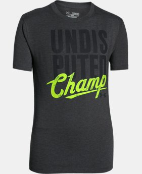Boys' UA Undisputed Champ T-Shirt  1 Color $18.99