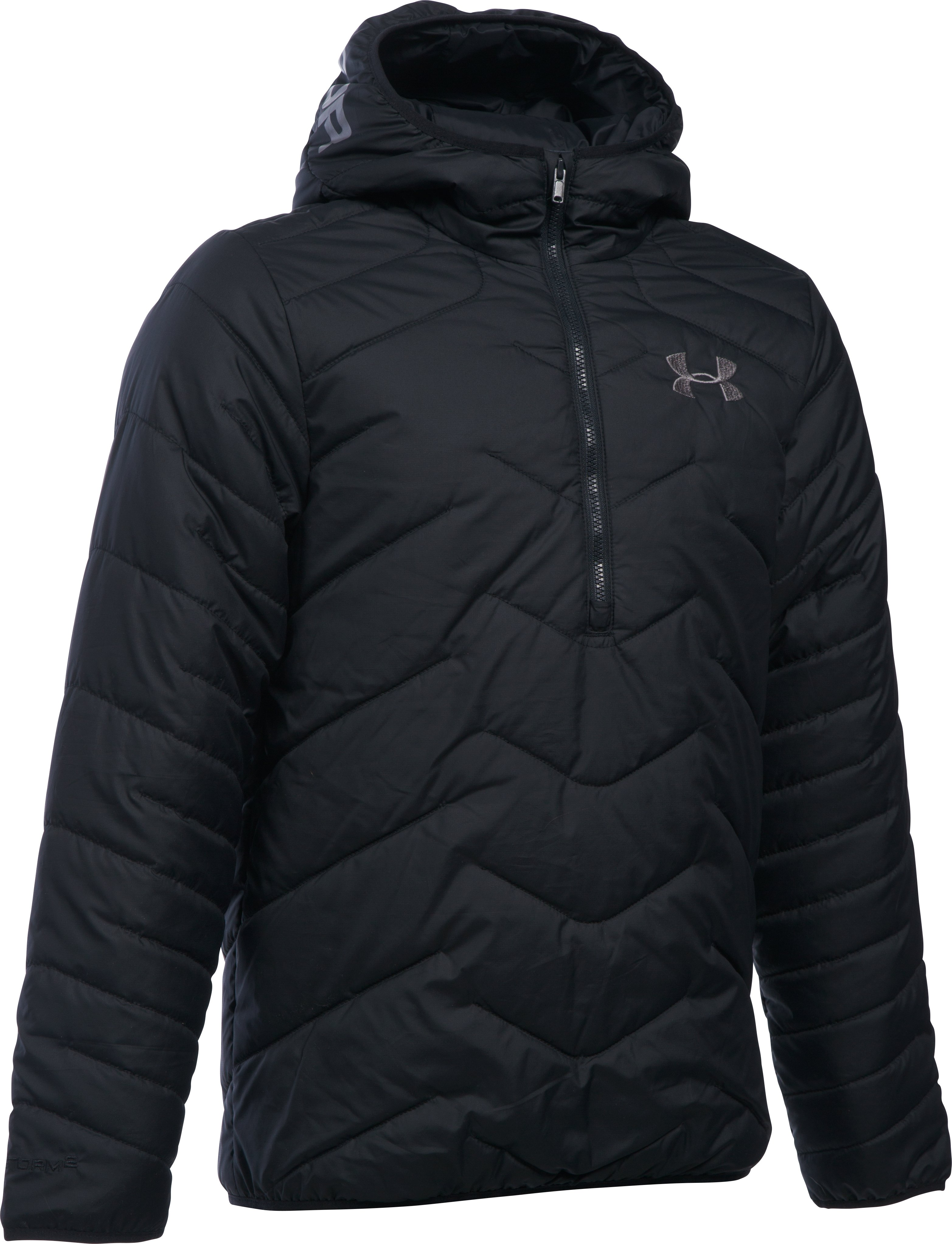 Boys' ColdGear® Reactor Anorak Jacket, Black