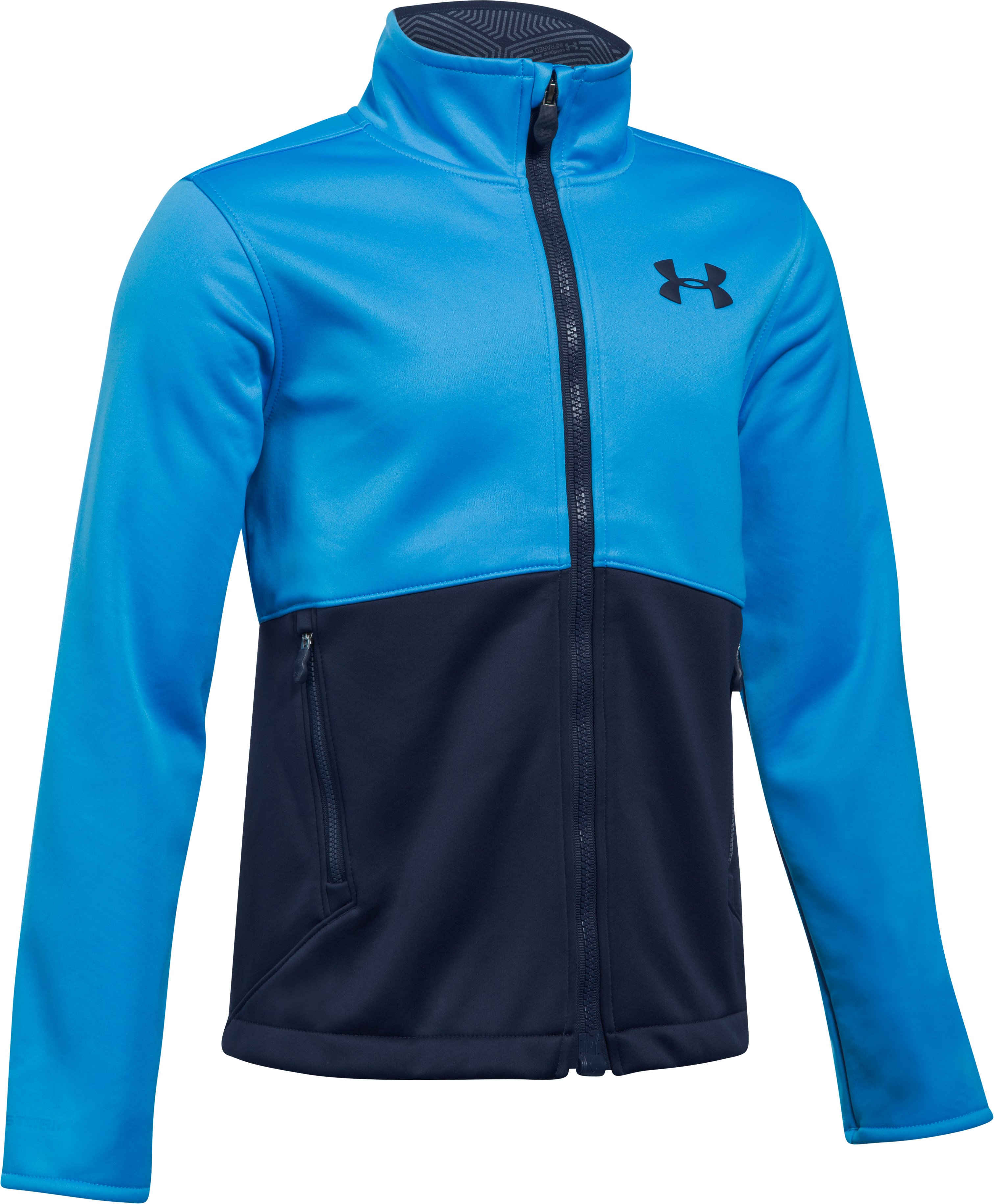 Boys' UA Storm Softershell Jacket, MAKO BLUE,