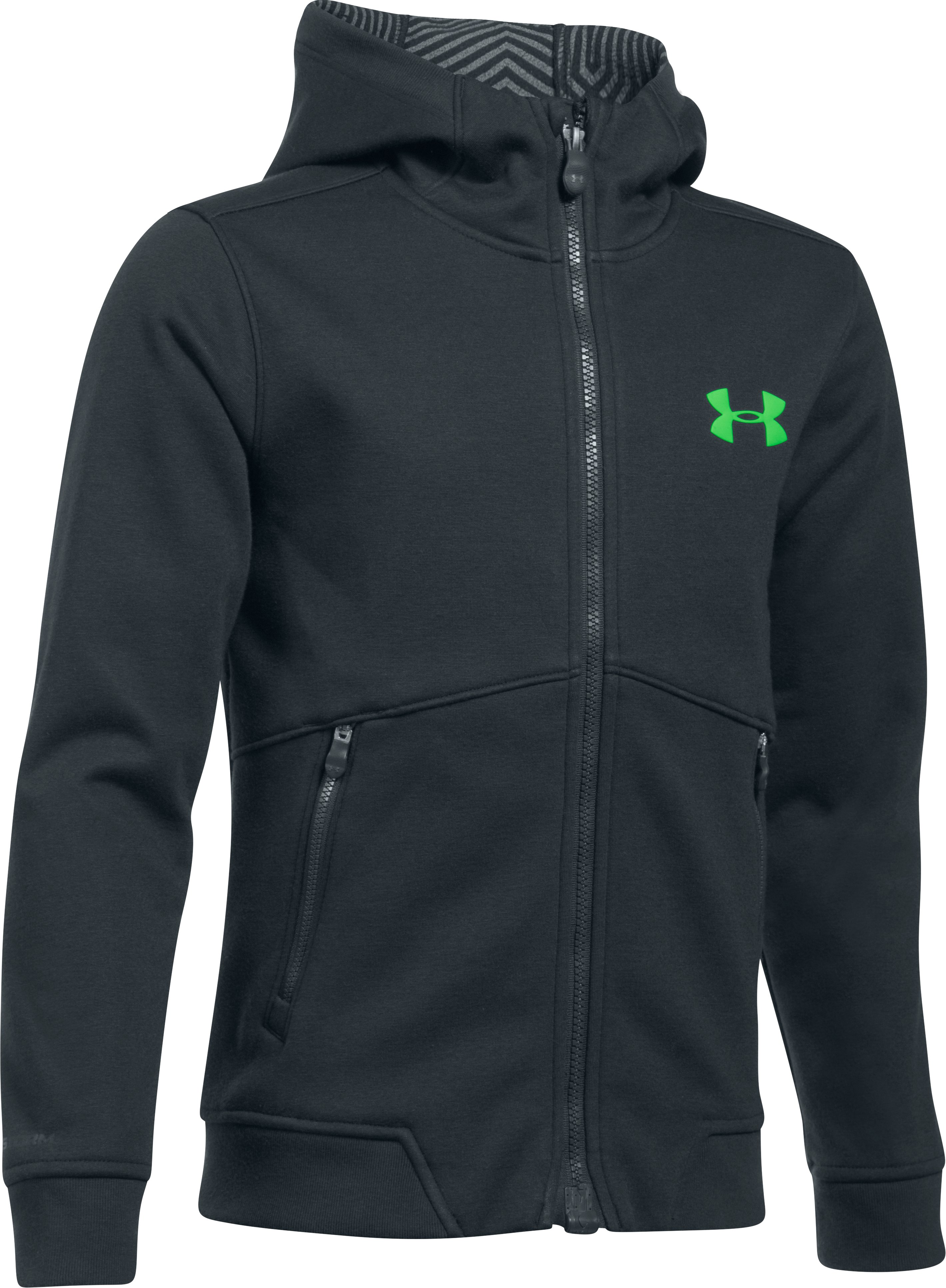 Boys' UA Storm Dobson Softshell, Asphalt Heather, zoomed image