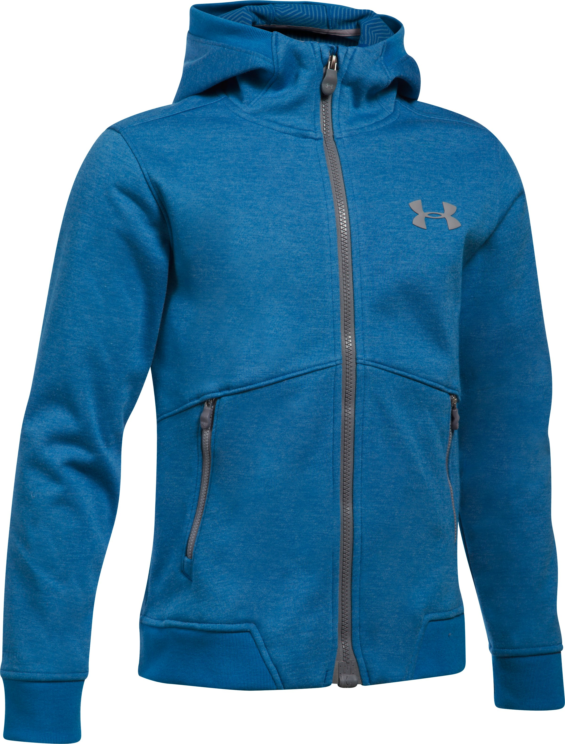 Boys' UA Storm Dobson Softshell, CRUISE BLUE, undefined