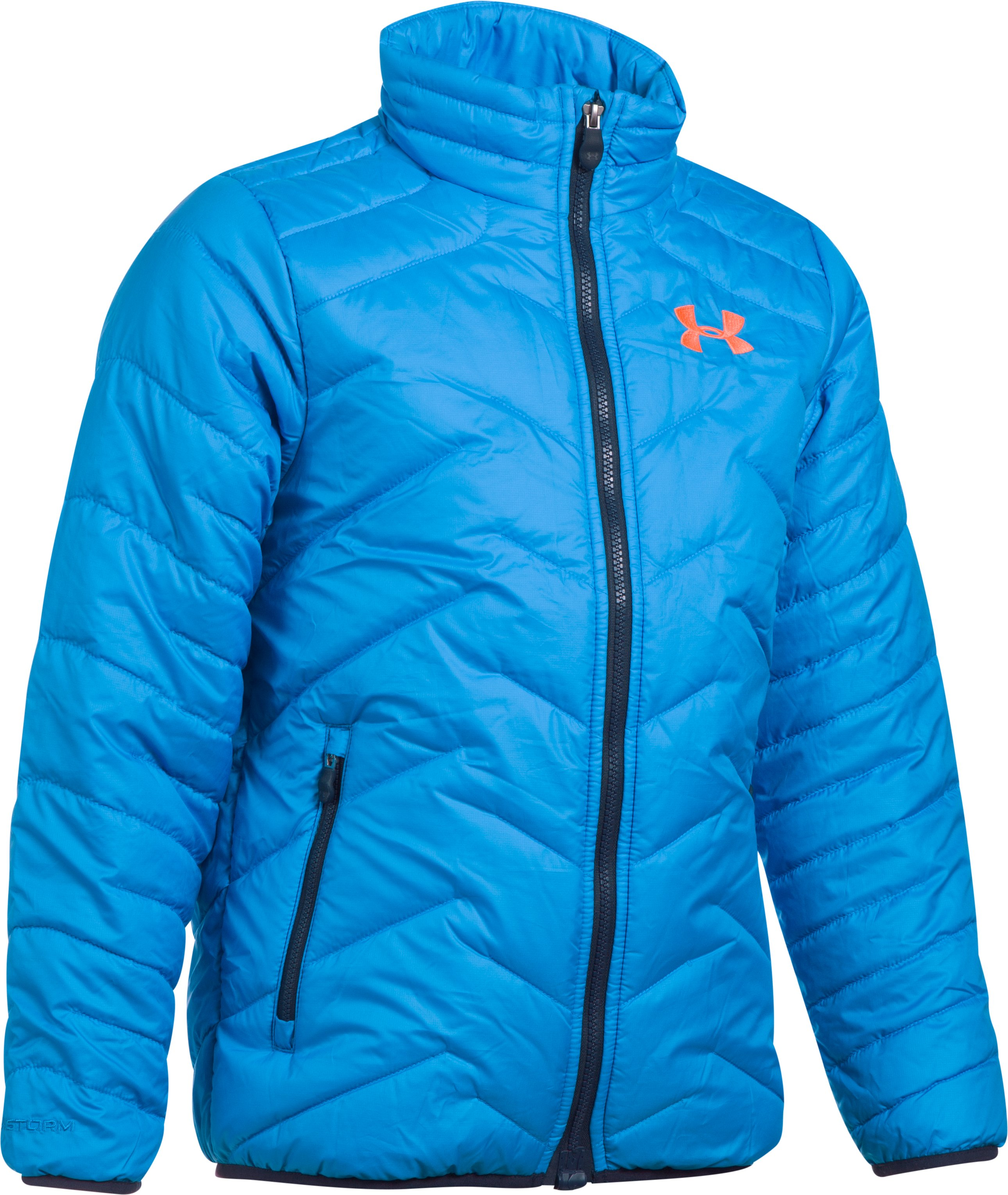 Boys' ColdGear® Reactor Jacket, MAKO BLUE