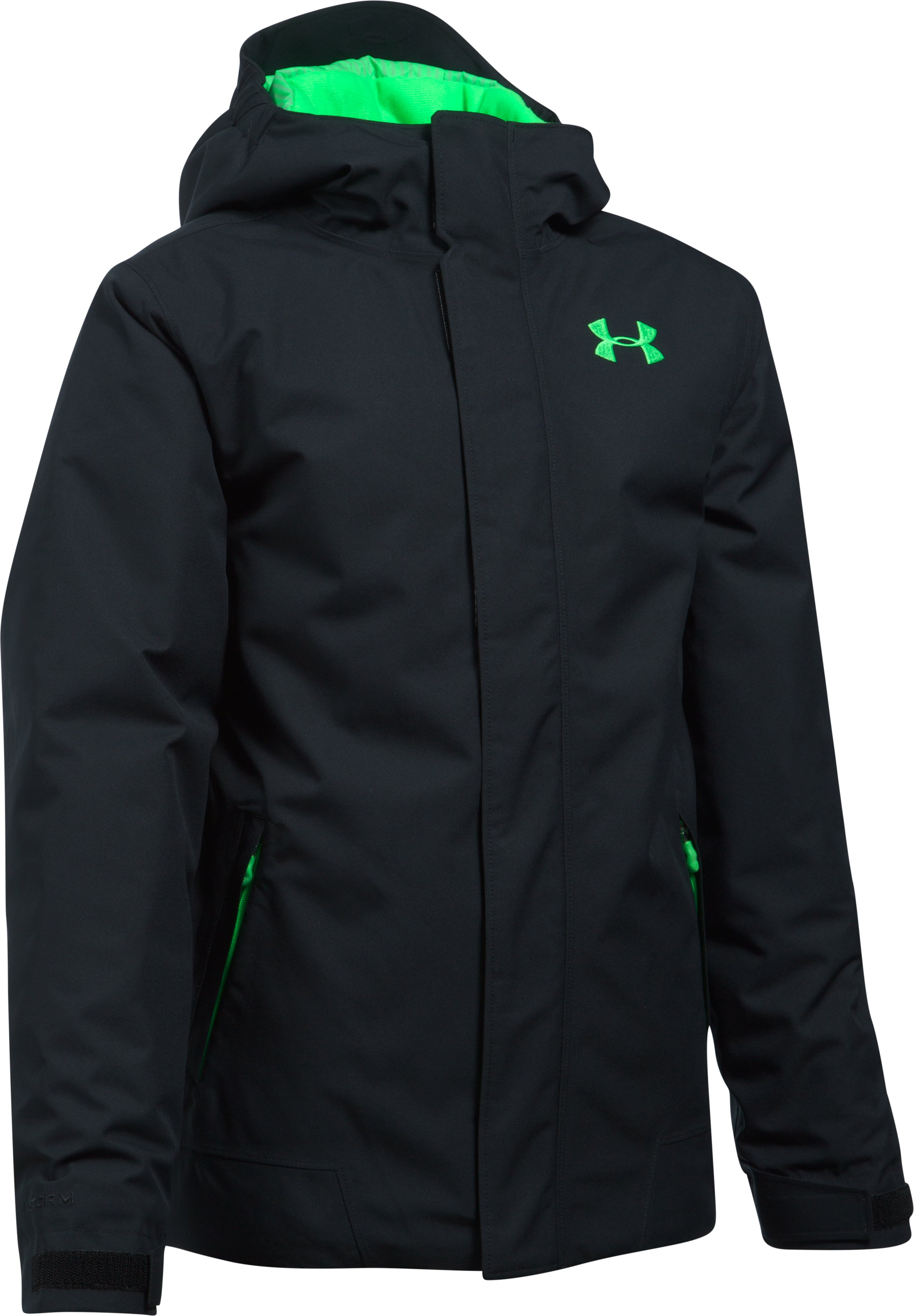 Boys' UA Storm Powerline Insulated Jacket, Black