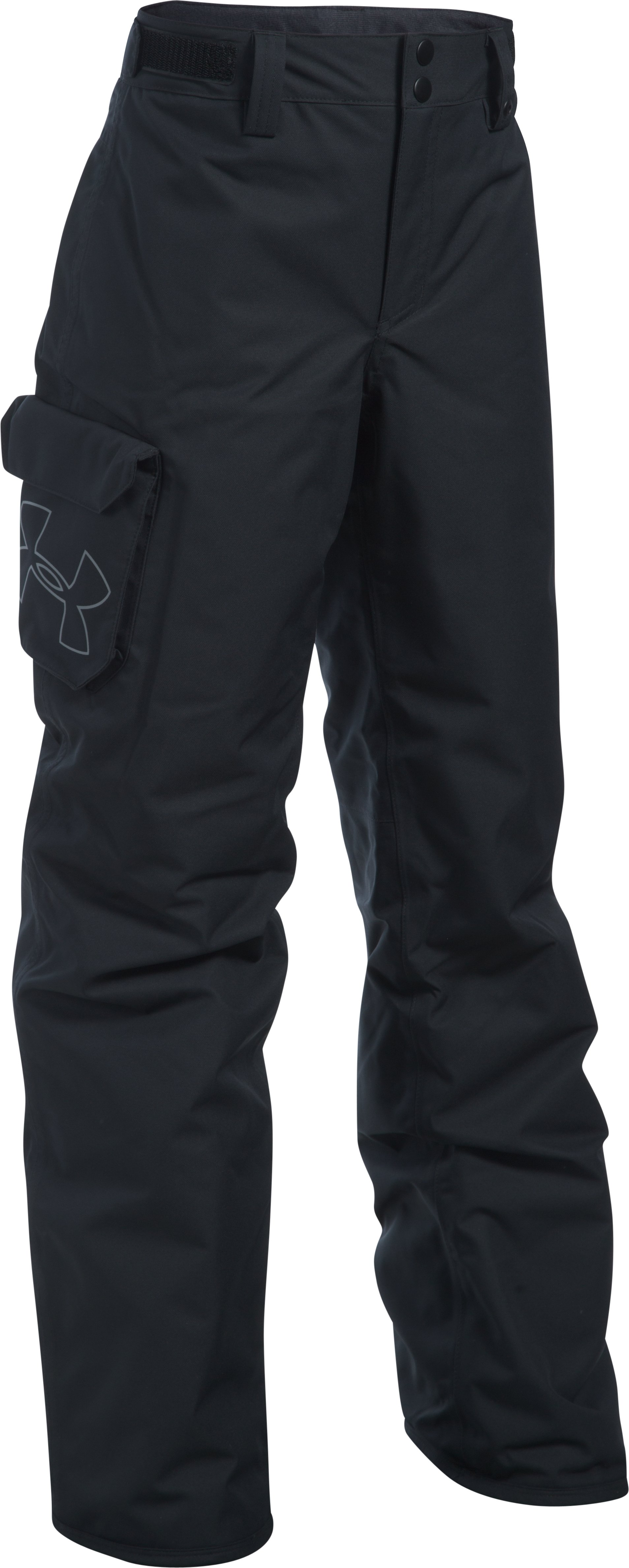 Boys' UA Storm Chutes Insulated Pants, Black , zoomed image