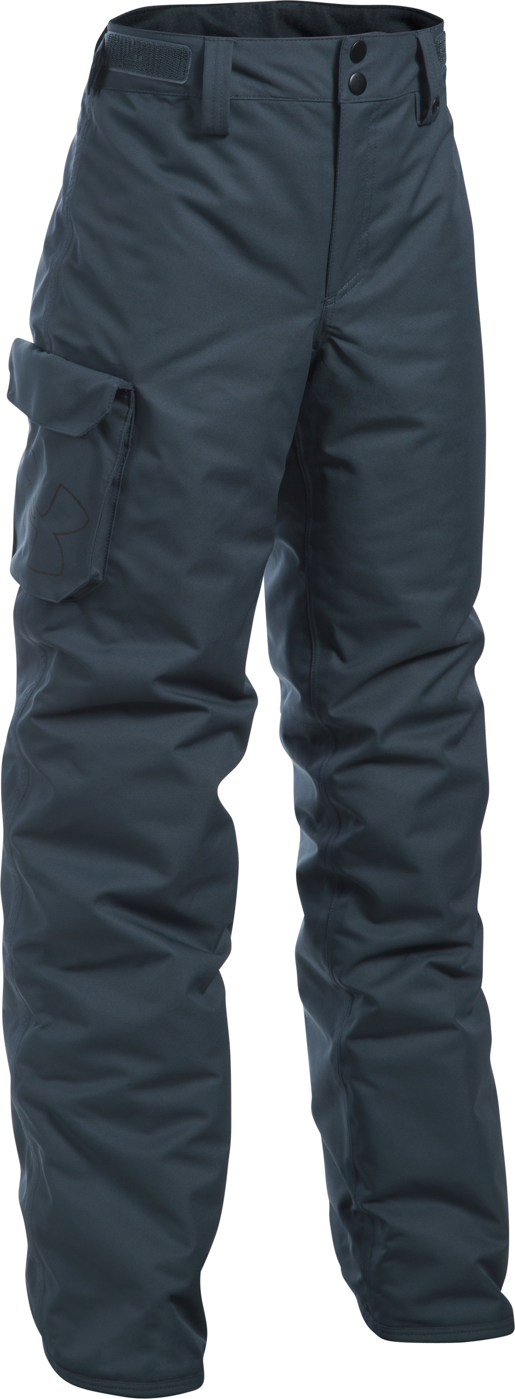 Boys' UA Storm Chutes Insulated Pants, STEALTH GRAY, zoomed image