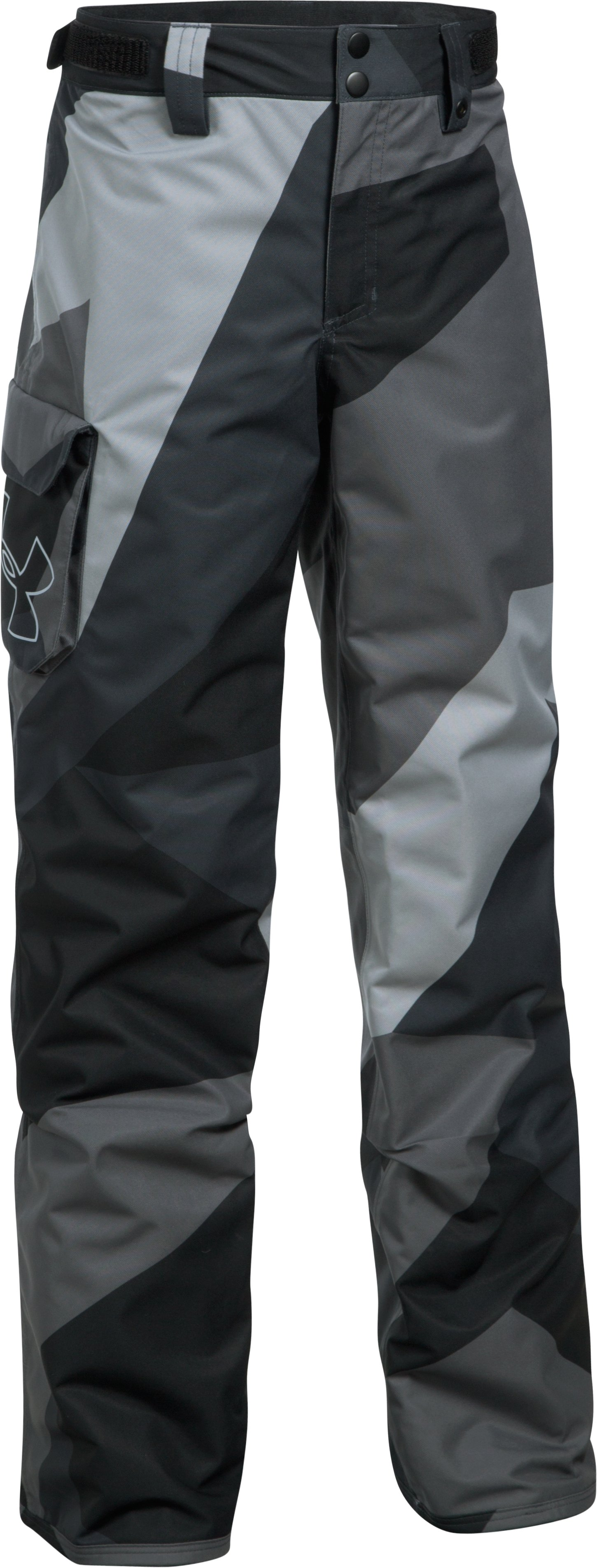 Boys' UA Storm Chutes Insulated Pants, Steel, undefined