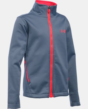 Girls' UA ColdGear® Infrared Softershell Jacket LIMITED TIME OFFER + FREE U.S. SHIPPING  $74.99