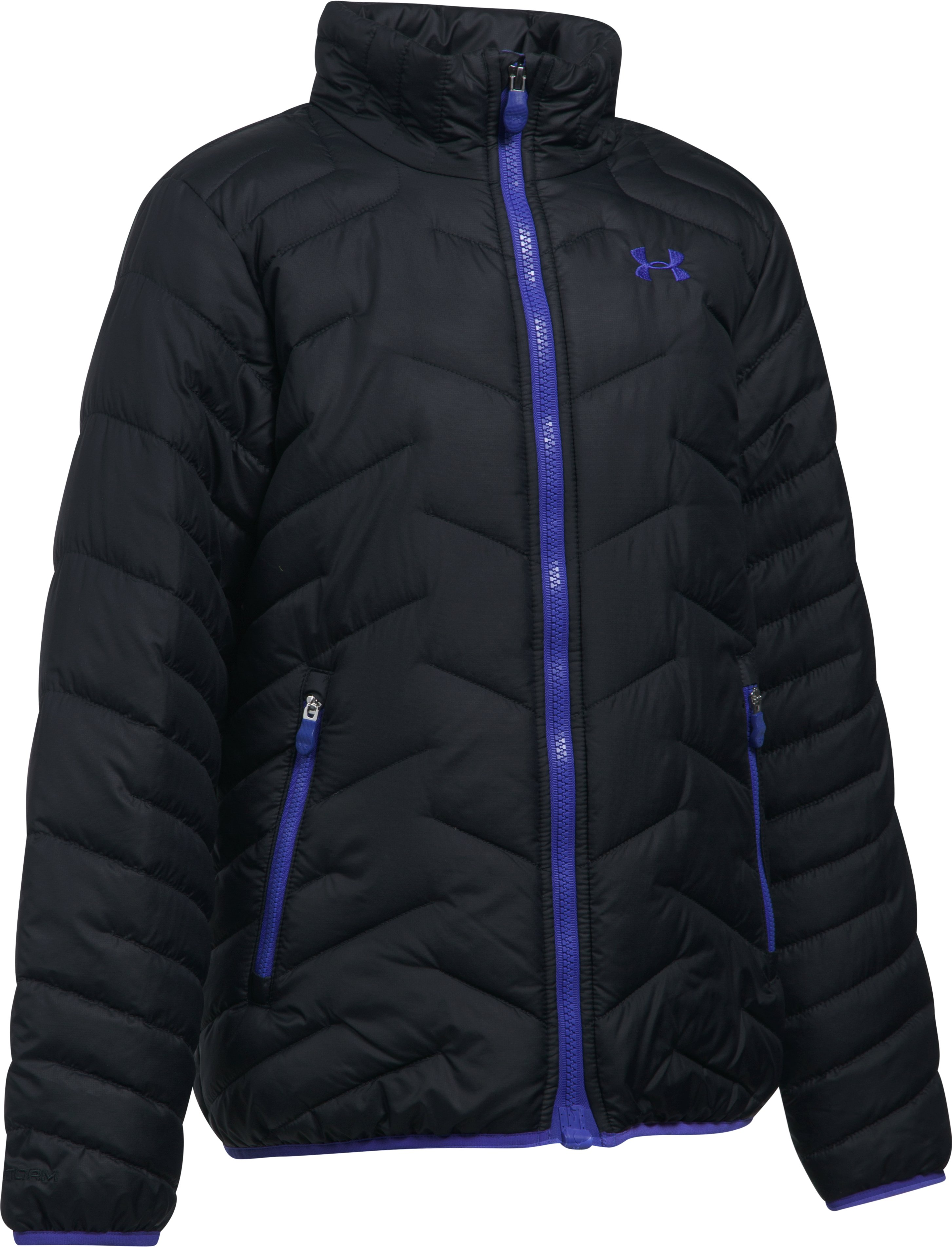 Girls' UA ColdGear® Reactor Jacket, Black