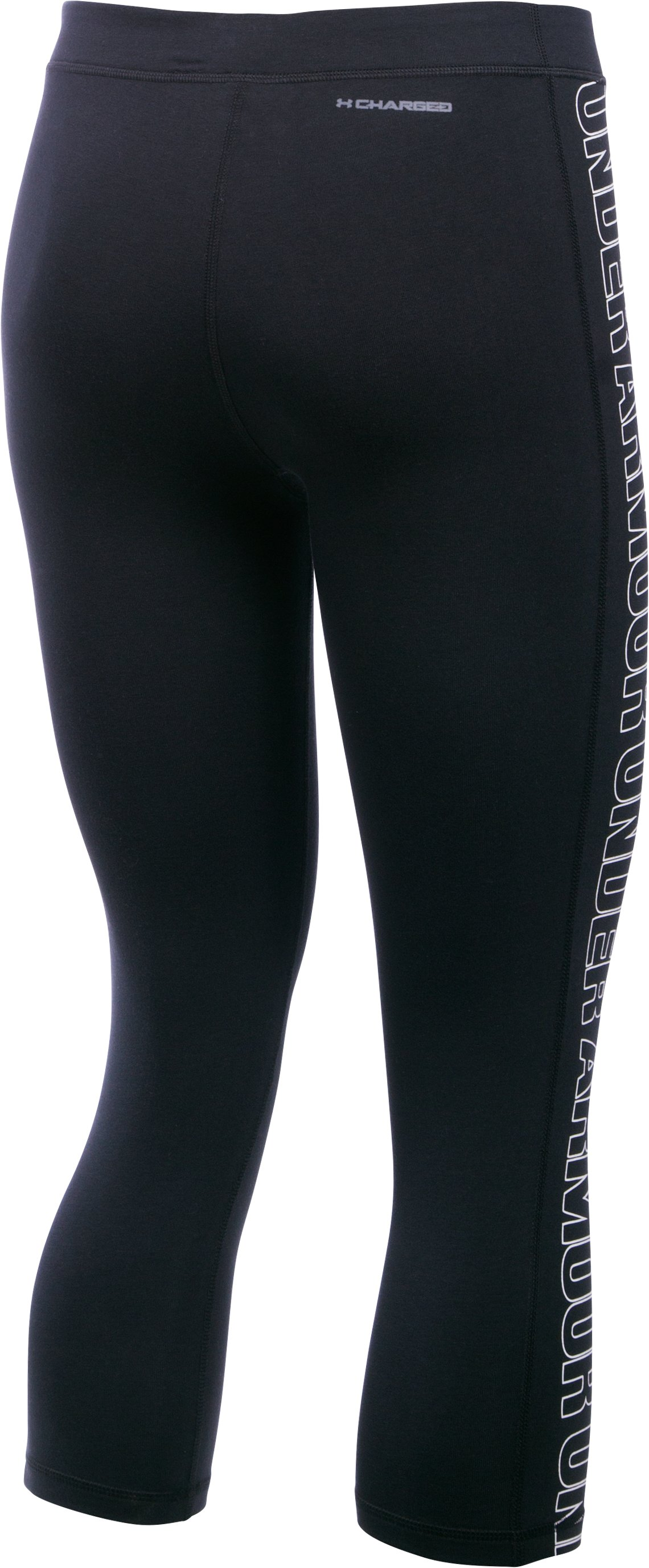 Women's UA Favorite Graphic Capris , Black , undefined