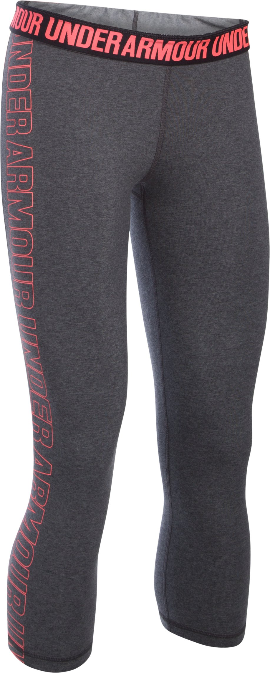 Women's UA Favorite Graphic Capris , Carbon Heather, undefined
