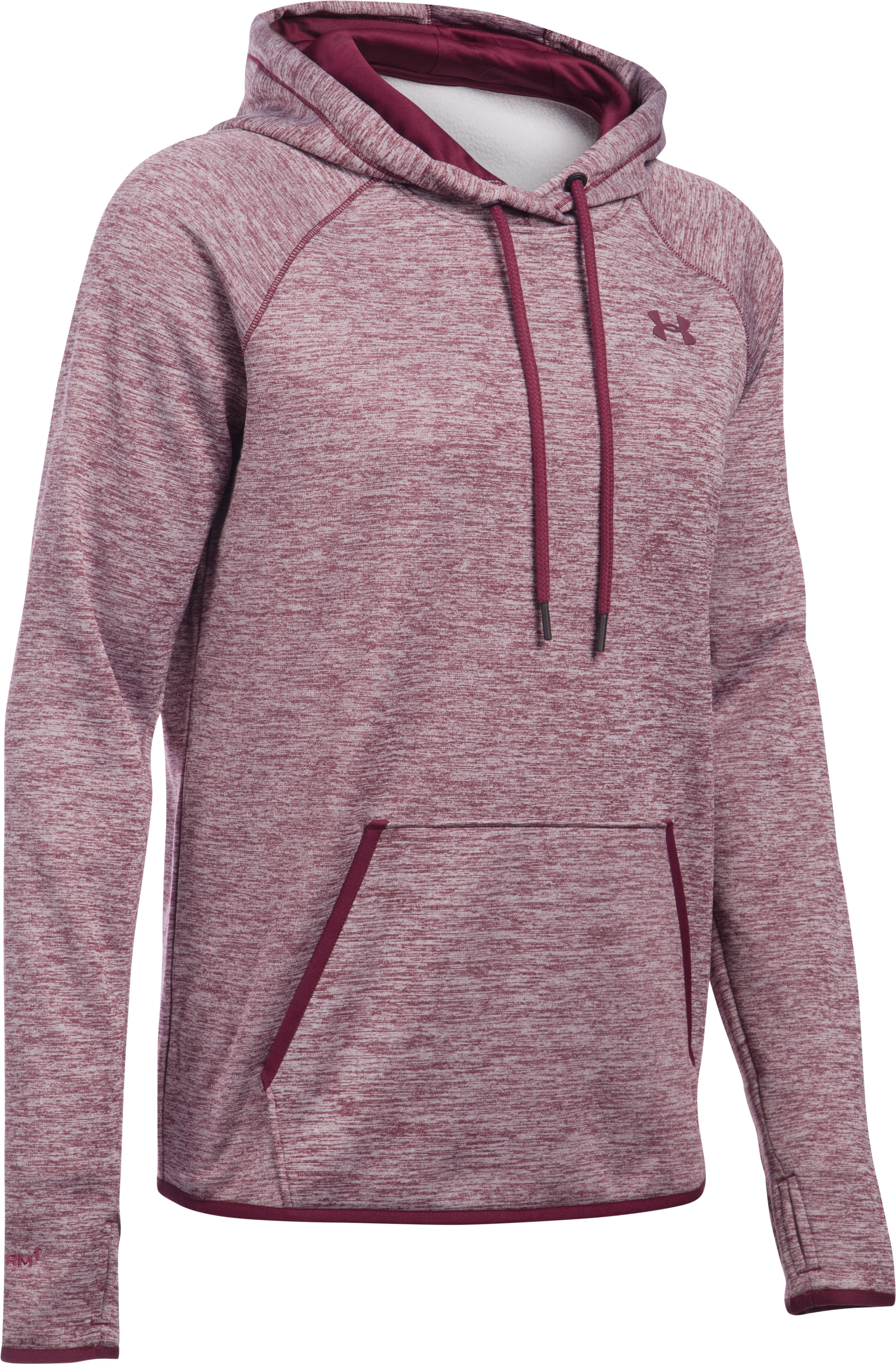 Women's  UA Storm Armour Fleece® Logo Twist Hoodie, Maroon, undefined