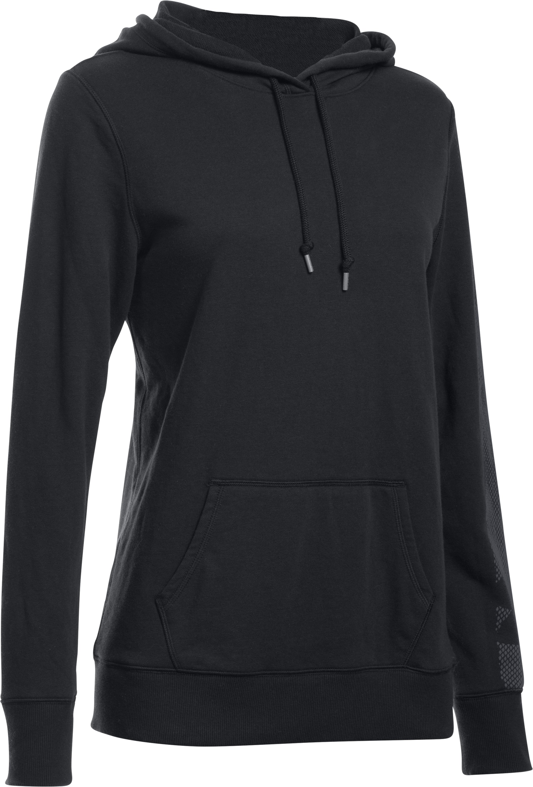 Women's UA Favorite French Terry Popover, Black ,