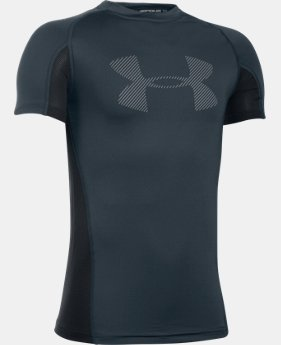 Boys' UA HeatGear® Armour Up Short Sleeve  4 Colors $22.99