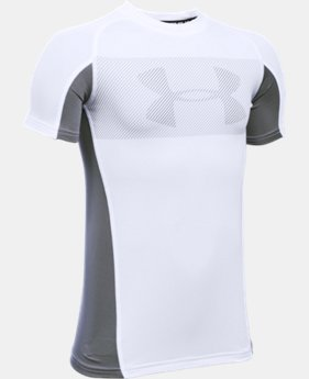 Boys' UA HeatGear® Armour Up Short Sleeve  1 Color $17.99