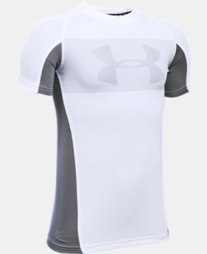 Boys' UA HeatGear® Armour Up Short Sleeve LIMITED TIME: FREE SHIPPING 1 Color $17.99
