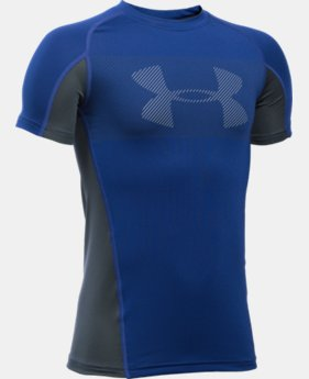 Boys' UA HeatGear® Armour Up Short Sleeve LIMITED TIME: FREE U.S. SHIPPING 1 Color $22.99