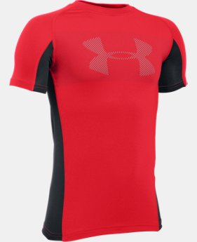 Boys' UA HeatGear® Armour Up Short Sleeve LIMITED TIME: FREE SHIPPING  $22.99