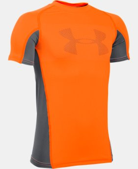New Arrival Boys' UA HeatGear® Armour Up Short Sleeve LIMITED TIME: FREE SHIPPING 1 Color $22.99