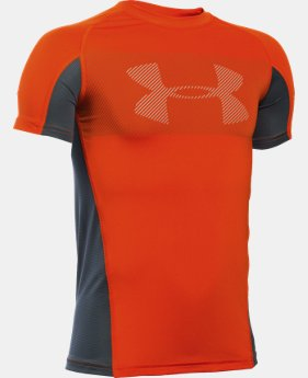 Boys' UA HeatGear® Armour Up Short Sleeve LIMITED TIME: FREE U.S. SHIPPING 2 Colors $13.49 to $17.99