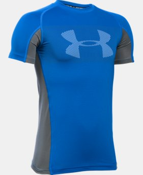 Boys' UA HeatGear® Armour Up Short Sleeve LIMITED TIME: FREE U.S. SHIPPING 2 Colors $22.99