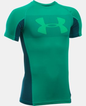 Boys' UA HeatGear® Armour Up Short Sleeve LIMITED TIME: FREE U.S. SHIPPING 1 Color $13.49 to $17.99