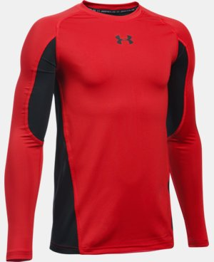 Boys' UA HeatGear® Armour Up Long Sleeve LIMITED TIME: FREE SHIPPING 1 Color $34.99