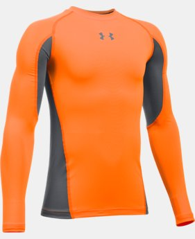 New Arrival  Boys' UA HeatGear® Armour Up Long Sleeve  4 Colors $34.99