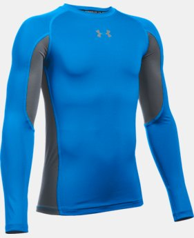 New Arrival  Boys' UA HeatGear® Armour Up Long Sleeve  1 Color $34.99