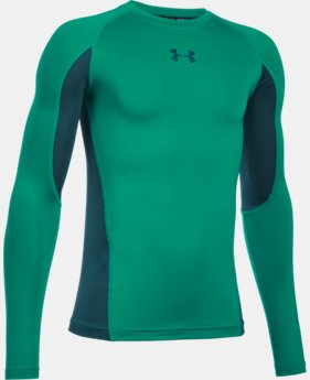New Arrival  Boys' UA HeatGear® Armour Up Long Sleeve   $34.99