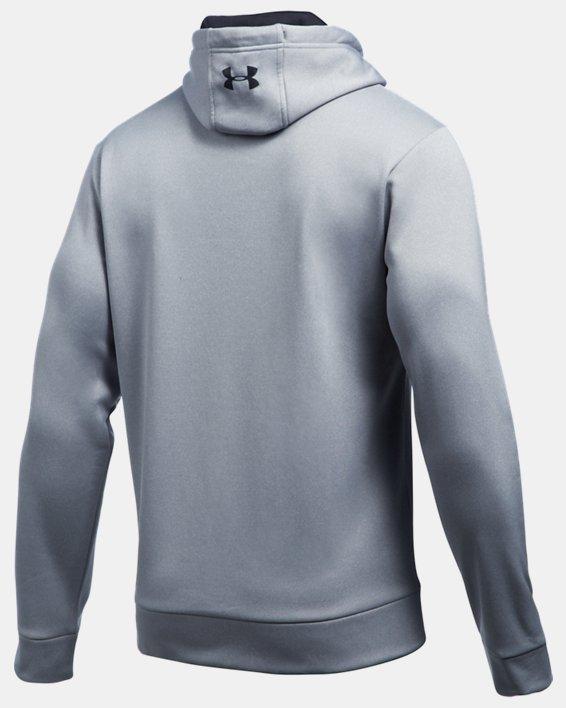 Men's UA Storm Armour Fleece® Hoodie, Gray, pdpMainDesktop image number 4